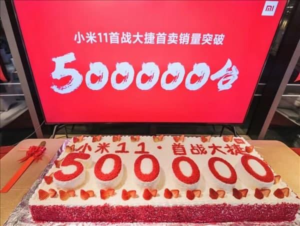 شیائومی بیش از ۵۰۰ هزار می ۱۱ را به فروش رسانده است