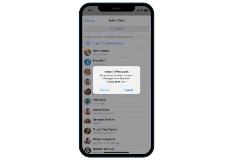 بهروزرسانی جدید تلگرام انتقال گفتگوها از واتس اپ را ممکن ساخت